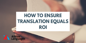 How to ensure translation equals ROI