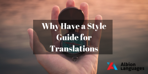 Why have a style guide for translations