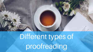Different types of proofreading