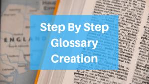 Glossary Creation